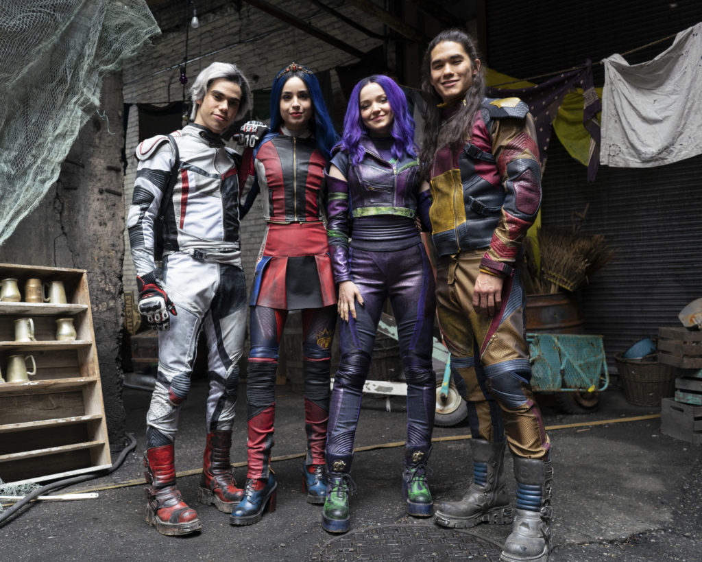 DESCENDANTS 3 (Disney Channel/David Bukach) CAMERON BOYCE, SOFIA CARSON, DOVE CAMERON, BOOBOO STEWART