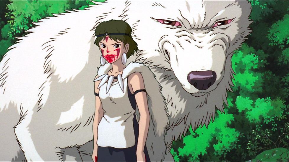 Curiosità sullo Studio Ghibli: fotogramma del film che ritrae San e Moro