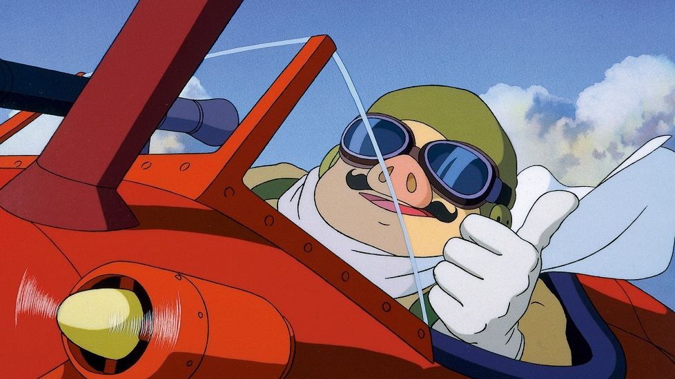 """Curiosità sullo Studio Ghibli: n fotogramma di """"Porco Rosso"""" che ritrae Marco Pagot, il protagonista del film"""