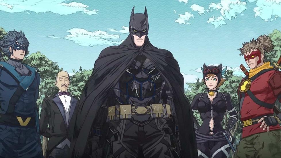 Nell'immagine ci sono Batman in e suoi aiutanti in versione ninja. Da sinistra a detra: Nightwing, Alfred, Batman, Catwoman, Red Robin. Si tratta di un valido esempio di animazione americana ispirata dagli anime.