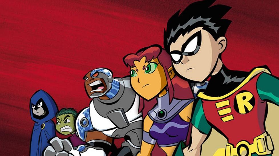 I Teen Titans protagonisti della serie animata. Da sinistra a destra: Raven, Beast Boy, Cyborg, Starfire e Robin. al completo. Si tratta di un caso interessante di animazione americana ispirata dagli anime.