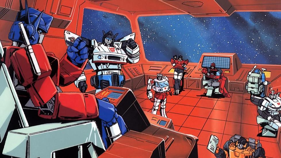 Transformers G1 è la prima serie animata dedicata ai Transformers. Nella foto ci sono i principali membri del gruppo degli Autobot. Ecco un esempio classico di animazione americana ispirata dagli anime.